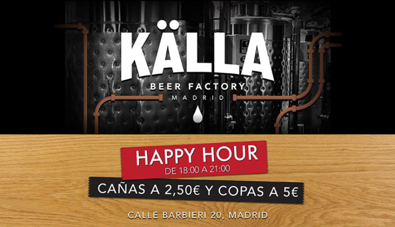 Kalla-happy-hour_Källa Beer Factory_CheapInMadrid